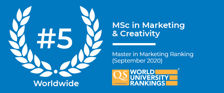 ESCP Business School: MSc in Marketing & Creativity is ranked 5th worldwide in the QS World University ranking for Masters in Marketing in September 2020