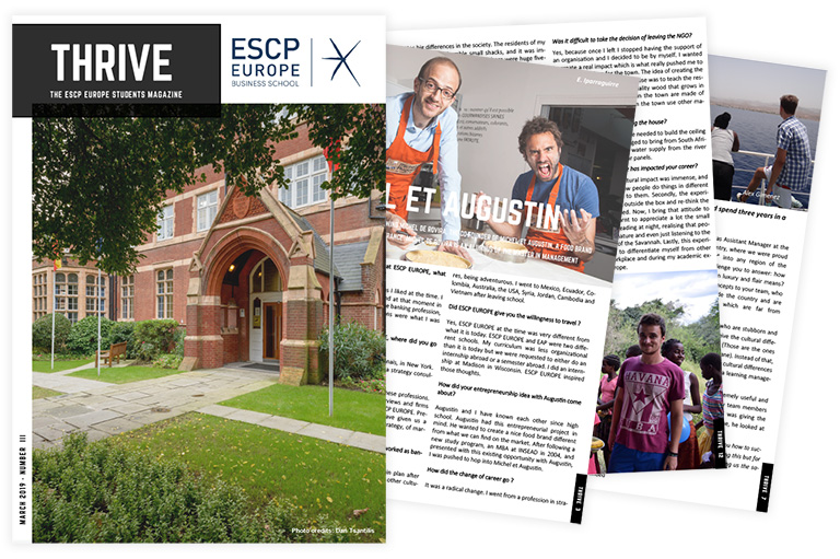 THRIVE – The ESCP Students Magazine – March 2019