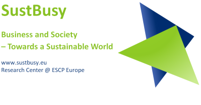 SustBusy logo, Research centre at ESCP