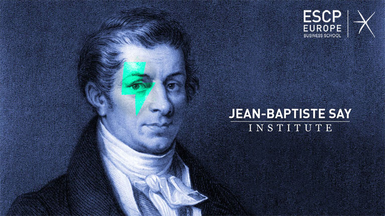 Logo of the Jean-Baptiste Say website, Campus Berlin, ESCP