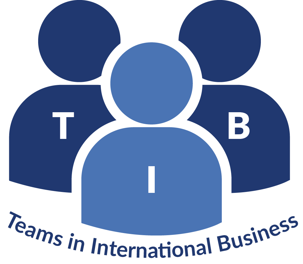 Logo, research center, Teams on International Business