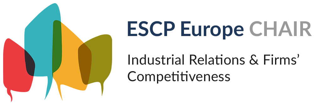 Logo Industrial Relations  Firms' competitiveness chair, ESCP