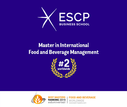 ESCP MSc IFBM placed 2nd in the 2019 EDUNIVERSAL RANKING