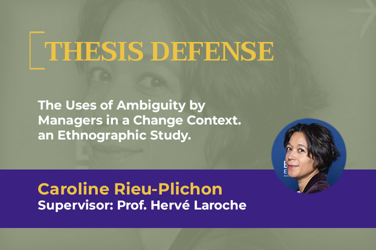 Caroline Rieu-Plichon, PhD candidate in the PhD programme ESCP, will publicly defend her PhD thesis in Management Sciences.