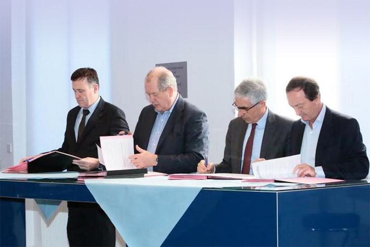 Franck Bournois, Patrick Gounelle, Michel-Edouard Leclerc was signing for The Future of retail in Society 4.0 Chair