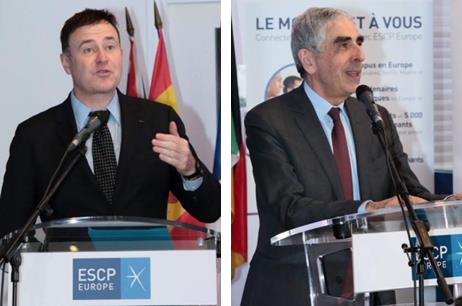 Frank Bournois (Dean of ESCP) and Patrick Gounelle (President of the ESCP Foundation) started the ceremony by expressing their pride at seeing E. Leclerc join the School.