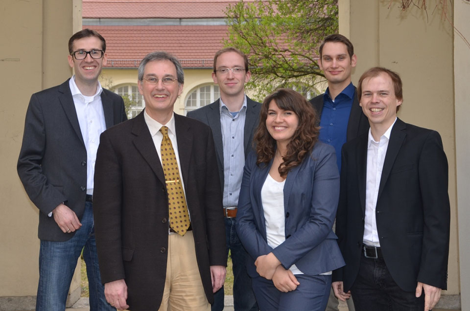Team of the chair of  Environment and Economics,with Prof. Dr. Rolf Brühl, Johanes Jahn, Melanie Eichhorn, Philip Richter, Tobias Lewerenz, Berlin campus, ESCP