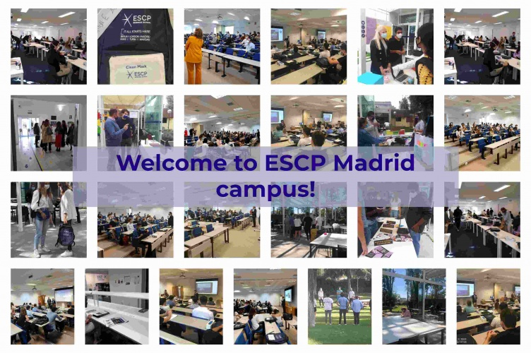 ¡Bienvenido!- Welcome! to the ESCP Madrid campus