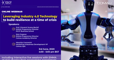 ESCP Webinar: Leveraging Industry 4.0 Technology to Build Resilience at a Time of Crisis