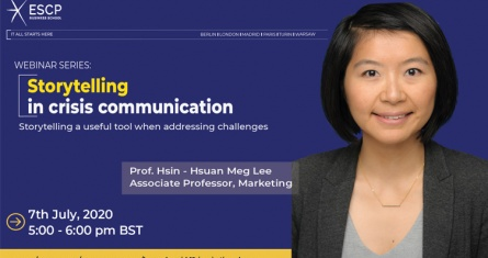 ESCP Business School Webinar: Storytelling in Crisis Communication