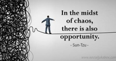 Finding opportunity in chaos