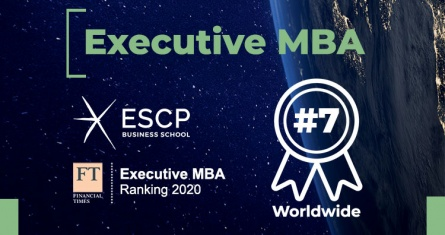 ESCP ranks 7th worldwide for its Executive MBA in the Financial Times EMBA 2020 ranking