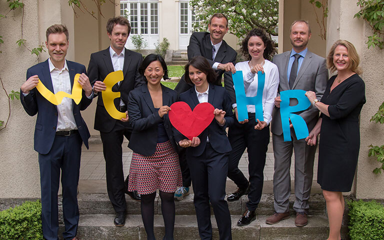 Team picture of the Chair of Human Resource Management & Intercultural Leadership, Berlin Academic chair, ESCP Europe