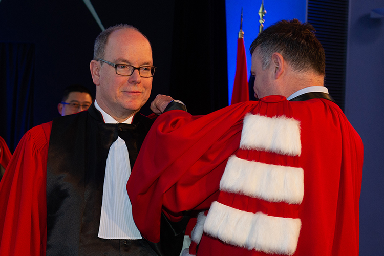 H.S.H. Prince Albert II of Monaco has been awarded The Docteur Honoris Causa Insignia of ESCP Business school on 26 November 2019
