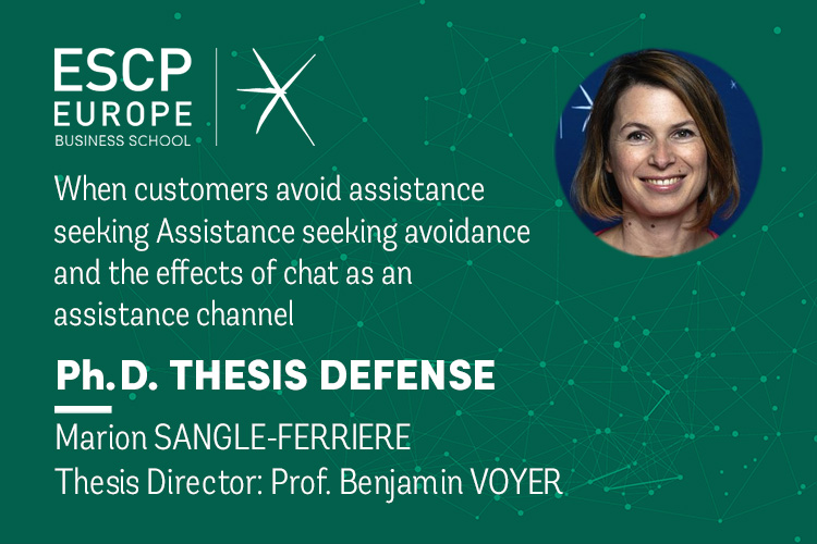 Marion SANGLE-FERRIERE, PhD candidate in the PhD programme ESCP Europe, will publicly defend her PhD thesis in Management Sciences.
