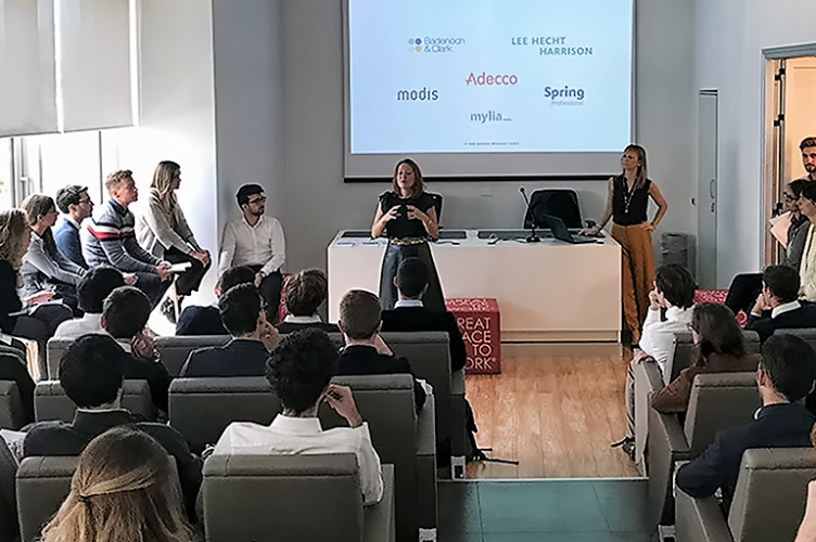 ESCP Europe Master in Management students at The Adecco Group headquarter