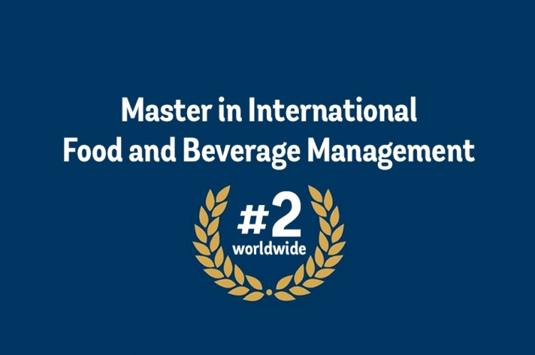 ESCP Europe Master in International Food and Beverage Management has been ranked  2nd worldwide