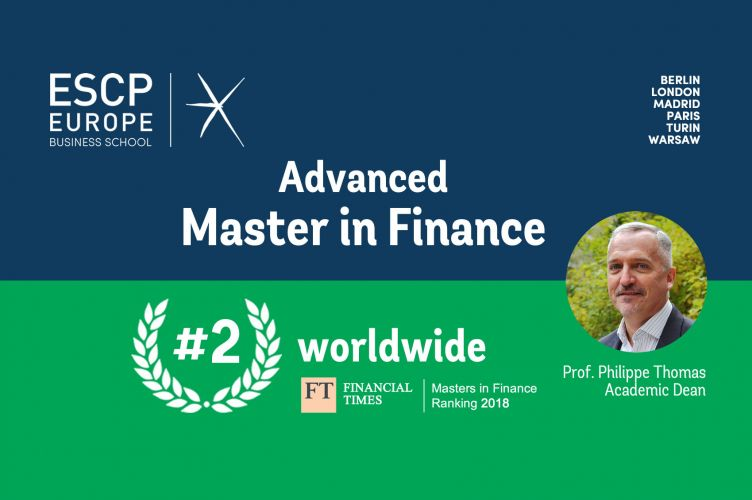 Advanced Master in Finance Financial Times ranking