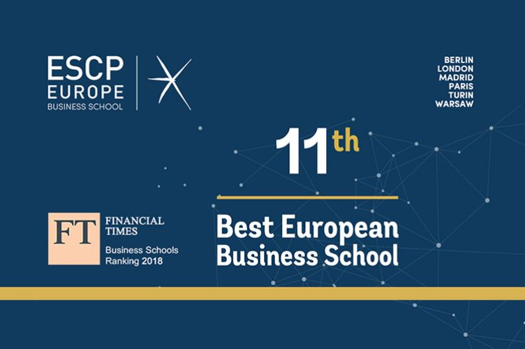 ESCP Europe climbs to 11th in the Financial Times rankings