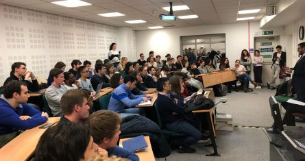 ESCP Finance Society event at the London campus