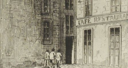 Rue de Grenelle Saint Honore, Hôtel des fermes, Paris, 1841, copyright Bibliothèque nationale de France