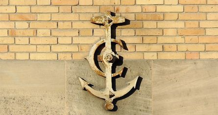 Navy Anchors on the walls, ESCP, Paris Campus / République