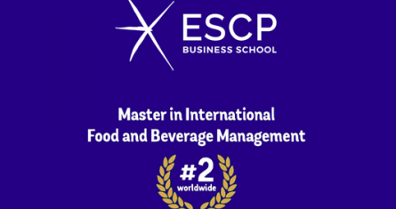 ESCP Master in International Food and Beverage Management has been ranked  2nd worldwide